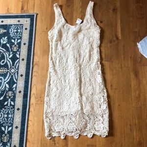 White lace Bobi dress